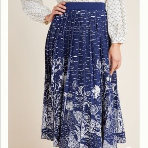 Anthropologie Haven Pleated Knit Midi Skirt